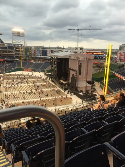 stage at billy joel concert