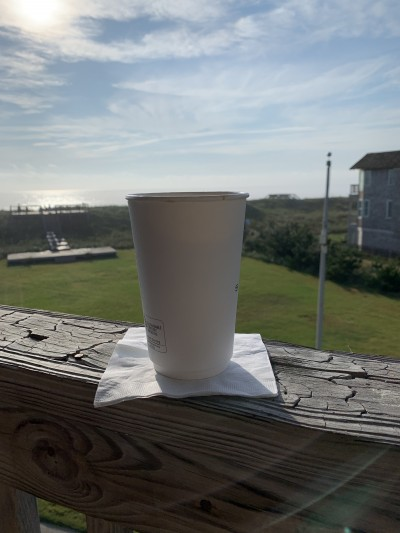 Coffee and ocean